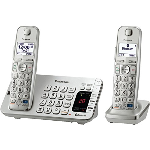 Panasonic-KX-TGE272S-Link2Cell-Bluetooth-Phone-with-Answering-Machine-and-Set-of-2-Cordless-Handsets