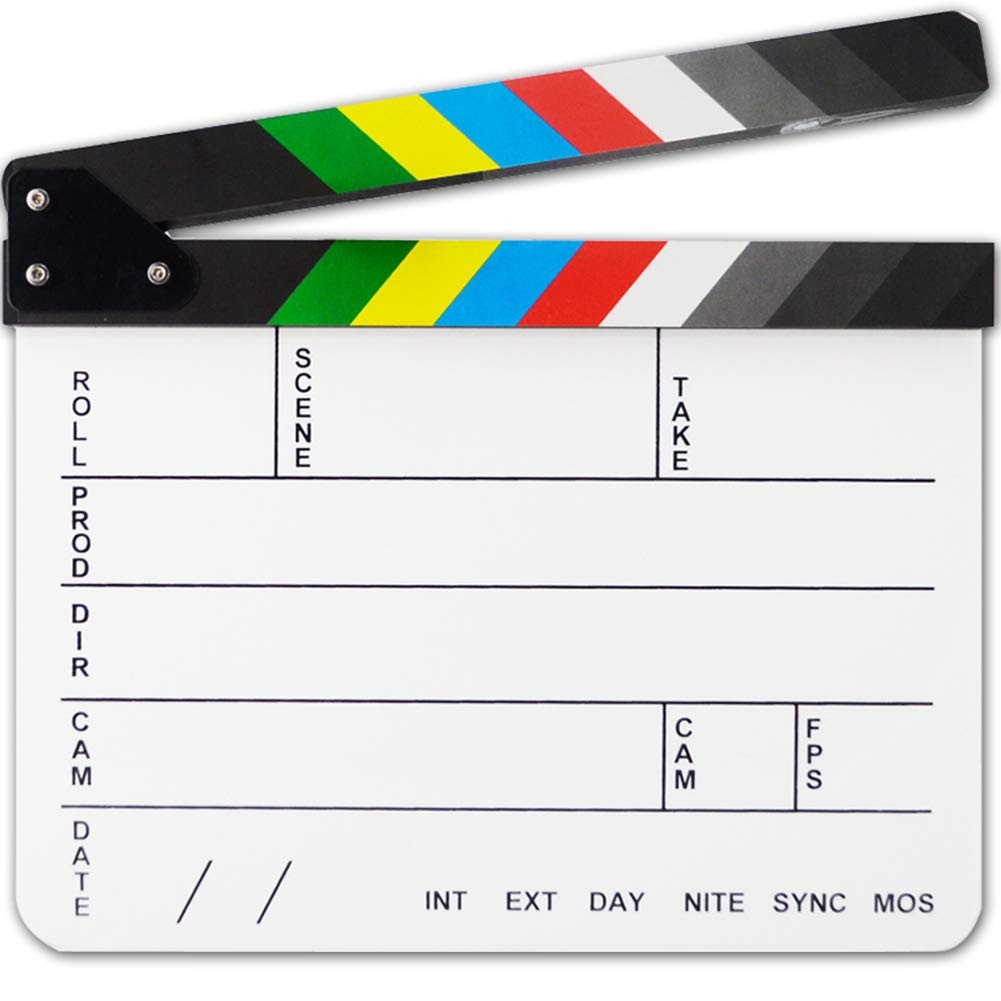 LinSHdi426 Film Director Clapboard - Acrylic Dry Erase Film Director Clapboard Video Scene Movie Clapper Board Slate by LinSHdi426