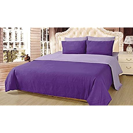Tache Home Fashion DUAlColorPurple S Reversible Comforter Set Twin Purple