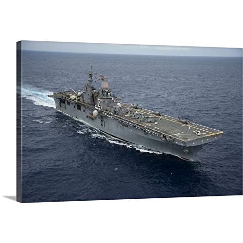 GREATBIGCANVAS Gallery-Wrapped Canvas Entitled The Amphibious Assault Ship USS Essex transits The Pacific Ocean by Stocktrek Images 18