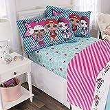 L.O.L. Surprise! Kids Bedding Soft Microfiber Sheet Set, Blue Pink-Full Size 4 Piece Pack
