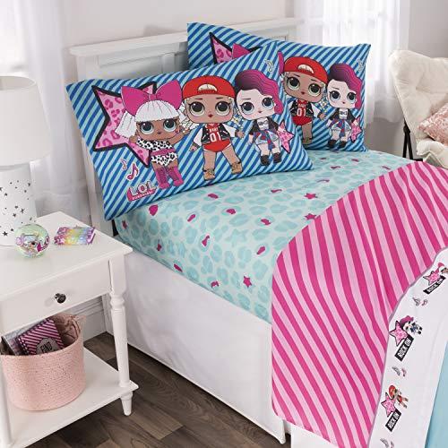 L.O.L. Surprise! Kids Bedding Soft Microfiber Sheet Set, Blue Pink-Full Size 4 Piece Pack from L.O.L. Surprise!