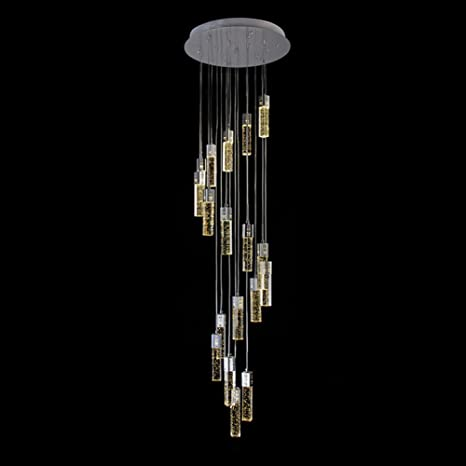 Poersi stair pendant lighting long chandelier for high ceiling lamp poersi stair pendant lighting long chandelier for high ceiling lamp spiral chandeliers staircase crystal pendant light aloadofball Image collections