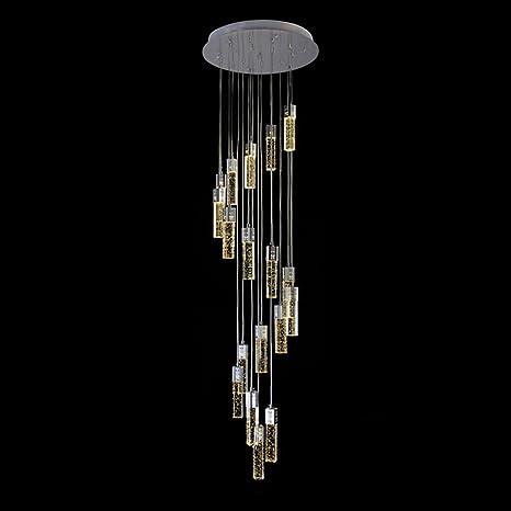 Poersi stair pendant lighting long chandelier for high ceiling lamp poersi stair pendant lighting long chandelier for high ceiling lamp spiral chandeliers staircase crystal pendant light aloadofball Gallery