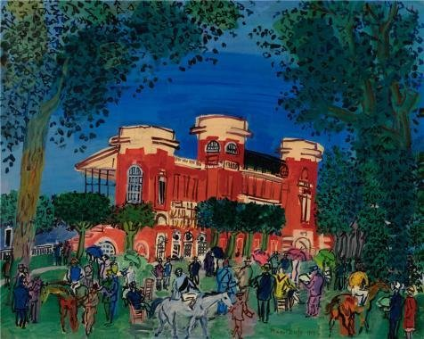 Oil Painting 'Raoul Dufy,Deauville Racetrack,1929', 16 x 20 inch / 41 x 51 cm , on High Definition HD canvas prints is for Gifts And Hallway, Kids Room And Laundry - Low Sunglasses Cost Aviator