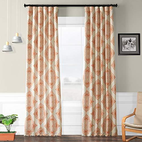 HPD HALF PRICE DRAPES BOCH-KC27-84 Henna Blackout Room Darkening Curtain, 50 X 84,