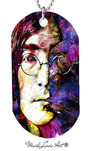 John Lennon necklace dog tag pendant, keychain and gift bag – jsl2-jl-dt Signed Collectible (John Lennon Jewelry)