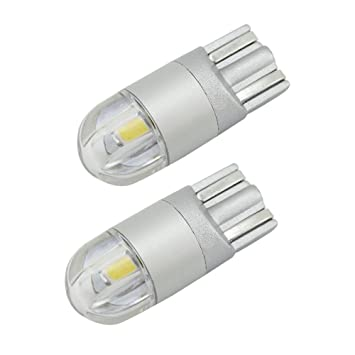 Pure White 2 x ERROR FREE CANBUS W5W T10 501 LED SIDE LIGHT BULB 13 SMD
