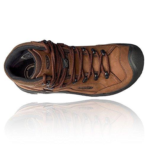 Keen Galleo Waterproof Mid, Stivali da Escursionismo Alti Uomo Braun (Cognac/Dark Chocolate 0)