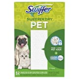 vac swiffer - Swiffer Sweeper Pet, Dry Sweeping Cloths with Febreze Odor Defense, 52 Count