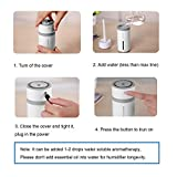 Rioway Humidifier, 240ml Cool Mist Aroma Ultrasonic Humidifiers Portable for Babies Bedroom Home Office Travel, Air Aromatherapy Car Diffuser With 7 Color LED Light, Whisper Quiet, USB Powered