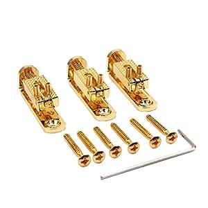rosenice bass guitar bridge parts set golden. Black Bedroom Furniture Sets. Home Design Ideas