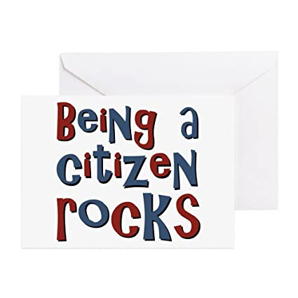 Amazon Cafepress Being A Usa Citizen Rocks Greeting Card