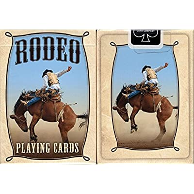 rodeo Playing Cards Poker Size Deck USPCC Custom Limited Edition: Sports & Outdoors