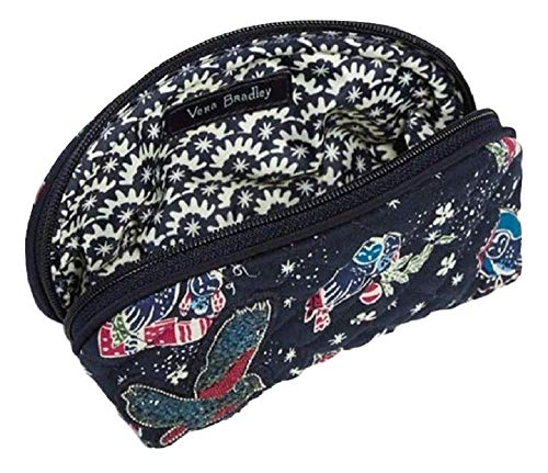 - Vera Bradley Iconic Clamshell Cosmetic in Holiday Owls with Studded Owl Applique