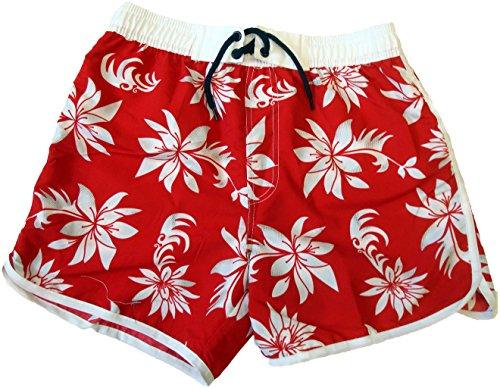 Step In Mädchen Beach Shorts, 9266, rot/weiß/khaki, Gr. 152