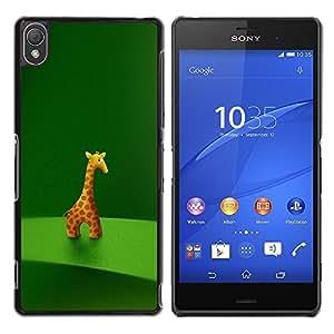 Be Good Phone Accessory // Dura Cáscara cubierta Protectora Caso Carcasa Funda de Protección para Sony Xperia Z3 D6603 / D6633 / D6643 / D6653 / D6616 // Giraffe Figurine Art Drawing