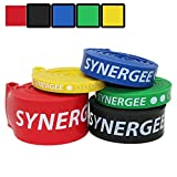 iheartsynergee Set of 4 Pull Up Assist Bands - Heavy Duty Resistance Super Bands - Power Band Resistance Loop Exercise Bands Mobility & Powerlifting Bands - Perfect Stretching & Resistance Training