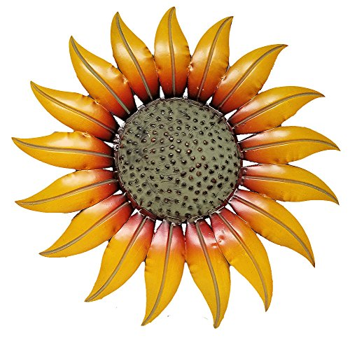 Sunflower Decor Metal Wall Plaque (14