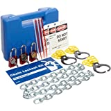 "Brady Prinzing Chain Lockout Kit with Carrying Case, Includes 1 48"" Chain"