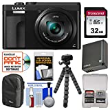 Cheap Panasonic Lumix DC-ZS70 4K Wi-Fi Digital Camera (Black) with 32GB Card + Case + Battery + Tripod + Kit