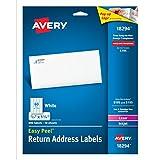 Avery Return Address Labels, Laser/Inkjet, 2/3 x 1-3/4-Inches, White (18294)