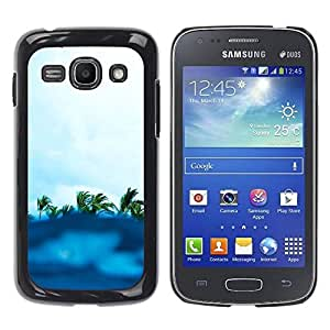 Paccase / SLIM PC / Aliminium Casa Carcasa Funda Case Cover para - Blue Surf Palm Trees Summer Waves Island - Samsung Galaxy Ace 3 GT-S7270 GT-S7275 GT-S7272