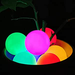 Floating Pool Light, RGB Color Changing Bathtub Led Ball Night Light IP68 Waterproof Hot Tub Ball Lamp for Kids Gift, Party,Pond, Patio, Backyard, Lawn,Beach,Wedding Decor(1pcs)