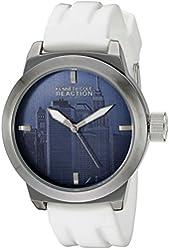 Kenneth Cole REACTION Unisex 10019124 Street Analog Display Japanese Quartz White Watch