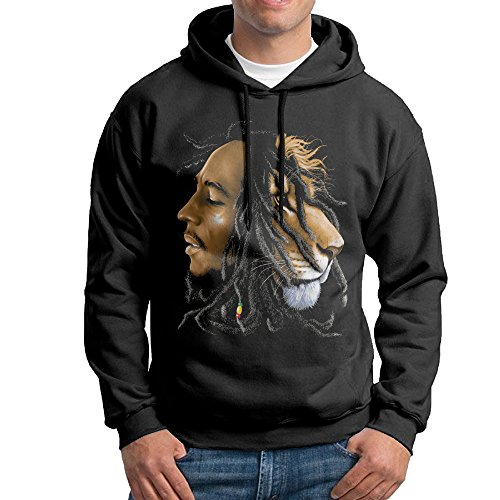 [Dora Bob Marley - Lions Head Men's Sports Hood Size M Black] (Pi Day Costume Ideas)