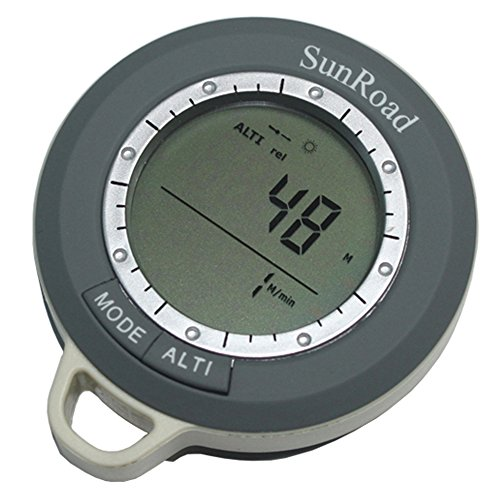Express Panda® Sunroad 8 in 1 Mini Digital Altimeter Climb Rate Barometer Thermometer Compass Weather Forecast Time SR108N