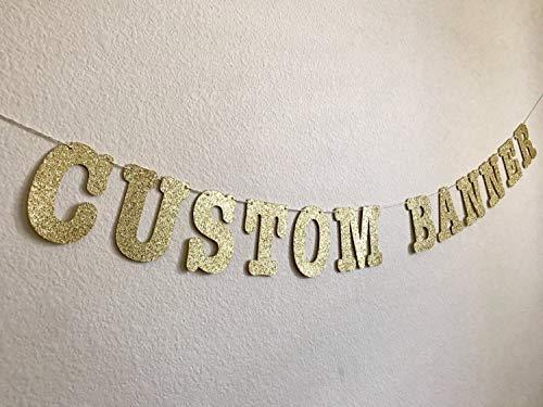 Custom Glitter Banners, 4.5