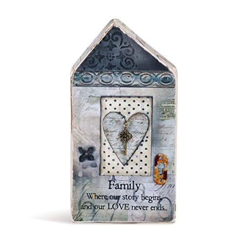 DEMDACO All of Us Patchwork Print Medium Plaster Molded House -