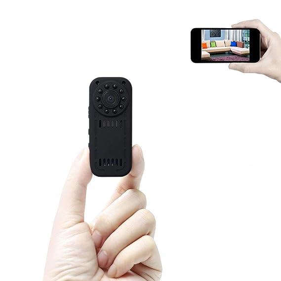 Mini Cámara WiFi UYIKOO 1080P HD Espía Cámara Escondida Cámara IP Inalámbrica Cámara Nanny CAM con Visión Nocturna y Detección de Movimiento para ...