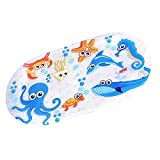 Echodo 27''x 15'' Non-slip Bath Mat for Kids Tub Mat with Suction Cups (Submarine)