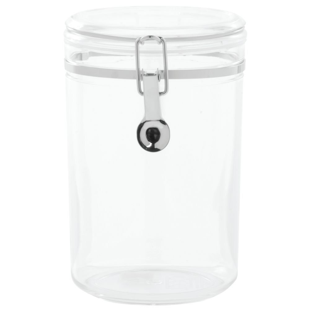 HUBERT Kitchen Canister Clear Plastic Round 57 Ounce 5Dia x 7 1//2H
