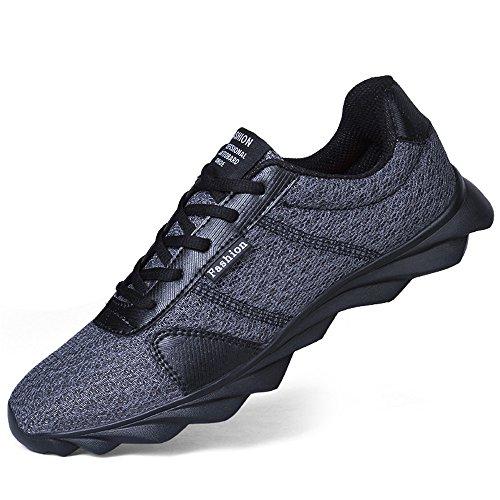 BRKVALIT Men Women Trainers Gym Walking Trainers Men Women Fitness Lightweight Sports Running Shoes Grey bG83Jsdi