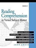 Reading Comprehension in Varied Subject Matter Book 1, Jane Ervin, 0838806007