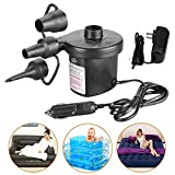 Electric Air Pump,3 Nozzle Adapters 240V Plug Automatic Inflatable Boat Pump Universal Valves Inflates and Deflates for Garden Home Holiday Camping Airbed,kids Paddling Pool & Toys,Beach Inflatables