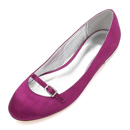shoes del Para 21 de del de de Baile Señoras Fin high Boda del Elegant nupciales Zapatos La de Mujer Satén Las del 5049 Partido Purple Talón Curso Sandalias Uq5fEn