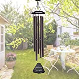 Large Wind Chimes Outdoor Deep Tone - 36 Inch Amazing Grace Wind Chimes with 5  Metal Tubes, Beautiful Memorial Wind Chimes, Perfect Gift for Family and Friends (A Free Card)