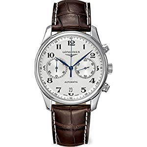 Longines Master Collection Automatic Chronograph Transparent Case Back Men's Watch L26294783