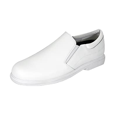a4c110899e7f 24 Hour Comfort Mike Men Extra Wide Width Slip On Shoe White 7