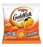 PEPPERIDGE FARM Goldfish Snack Crackers, Cheddar Cheese Single Serve, 300-Count Pouche)