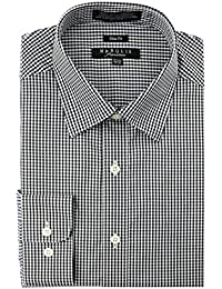 "<span class=""a-offscreen"">[Sponsored]</span>Men's Checkered Slim Fit Dress Shirt"