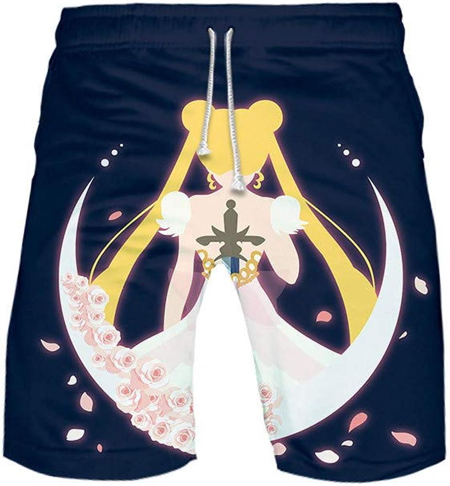 BOBD-DW Sailor Moon Bañadores De Natación Pantalones Cortos De Los Hombres De Secado Rápido Playa Surf Corriendo Pantalones Cortos De Natación Boxeadores
