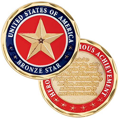 Medals of America Bronze Star Challenge Coin Multicolored