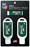 NFL Philadelphia Eagles Game Day Pack Includes 1 Lip Balm, 1 Hand Sanitizer and 1 SPF Sunscreen (3-Piece), 8 x 5 x 1.5-Inch, White