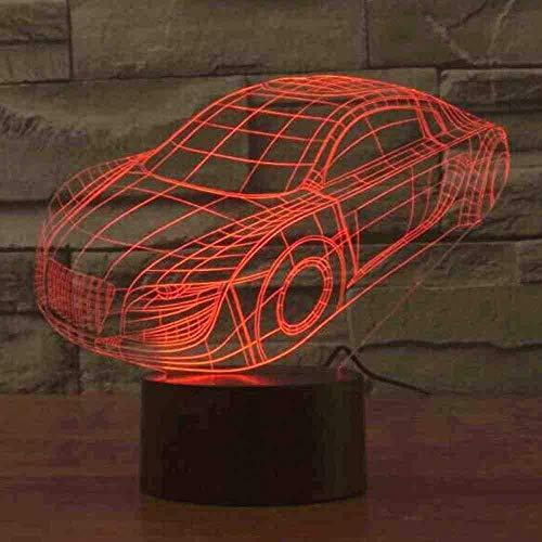 Coche Amazon 3D Lampara Colorido gradiente Creativo Regalo Lampara de escritorio Novedad Led Luz de noche Lamparas de mesa Control rem