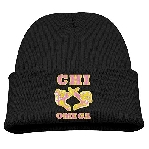 Chi Omega Children Stretchy Fashion Black Skull Hat Beanies Cap ()